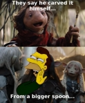One of my Simpsons memes, featuring a crossover with the Dark Crystal: Age of Resistance.