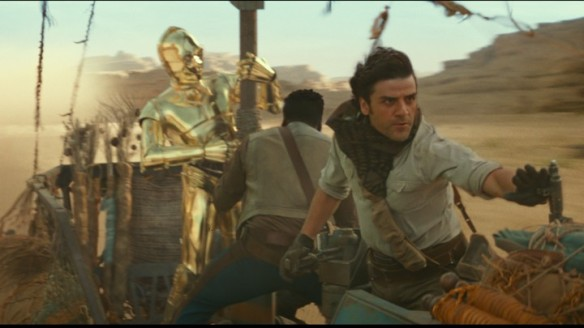 Poe and C3PO in Star Wars: Rise of Skywalker.