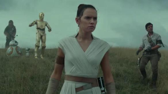 Rey and her companions in Star Wars: Rise of Skywalker.