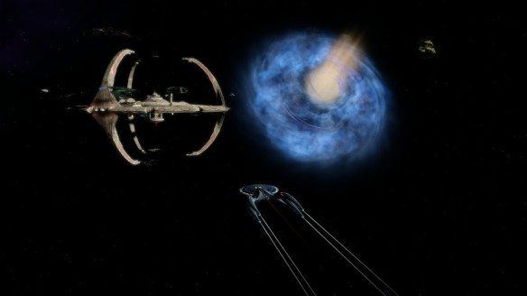 Space station Deep Space Nine in Star Trek Online.
