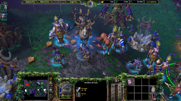 Night Elf units in Warcraft III: Reforged
