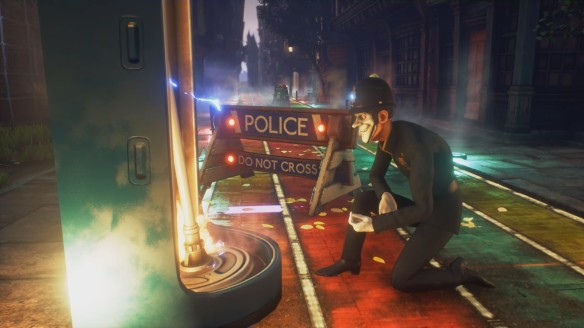 A scene from horror game We Happy Few.