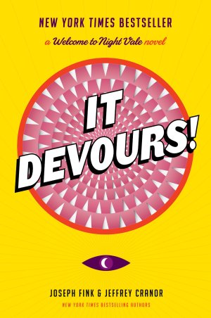 Cover art for the Welcome to Night Vale novel It Devours!