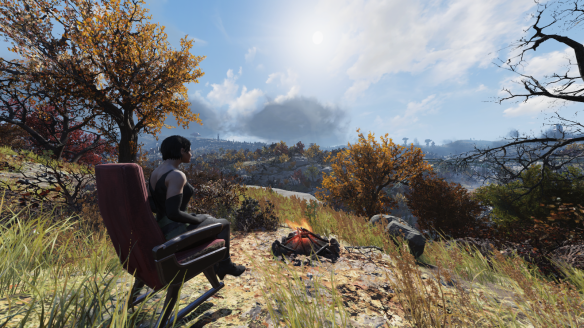 The view from my CAMP in Fallout 76.