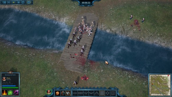 A battle in the tactical RTS Nordic Warriors.