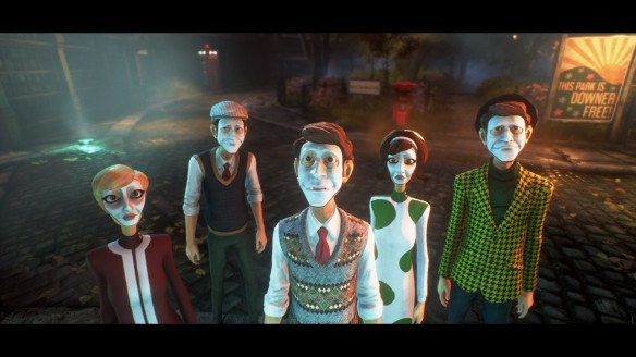 Townspeople in We Happy Few.