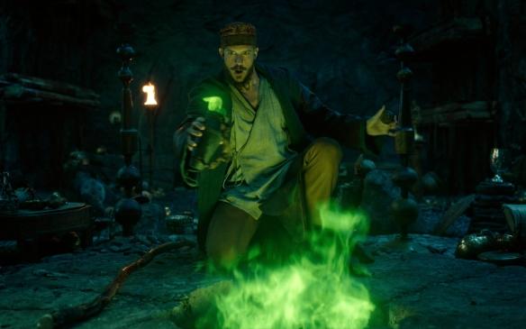 Gustaf Skarsgard as Merlin in Cursed.