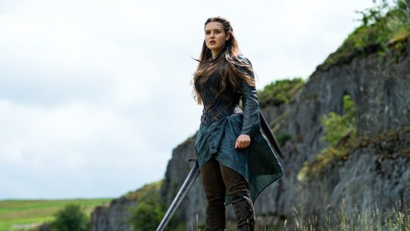 Katherine Langford as Nimue, the Wolf Blood Witch, in Cursed.